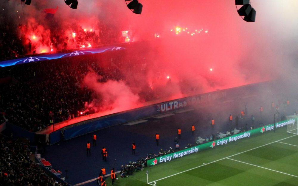 Les Ultras du PSG ont allumé des fumigènes face au Real Madrid