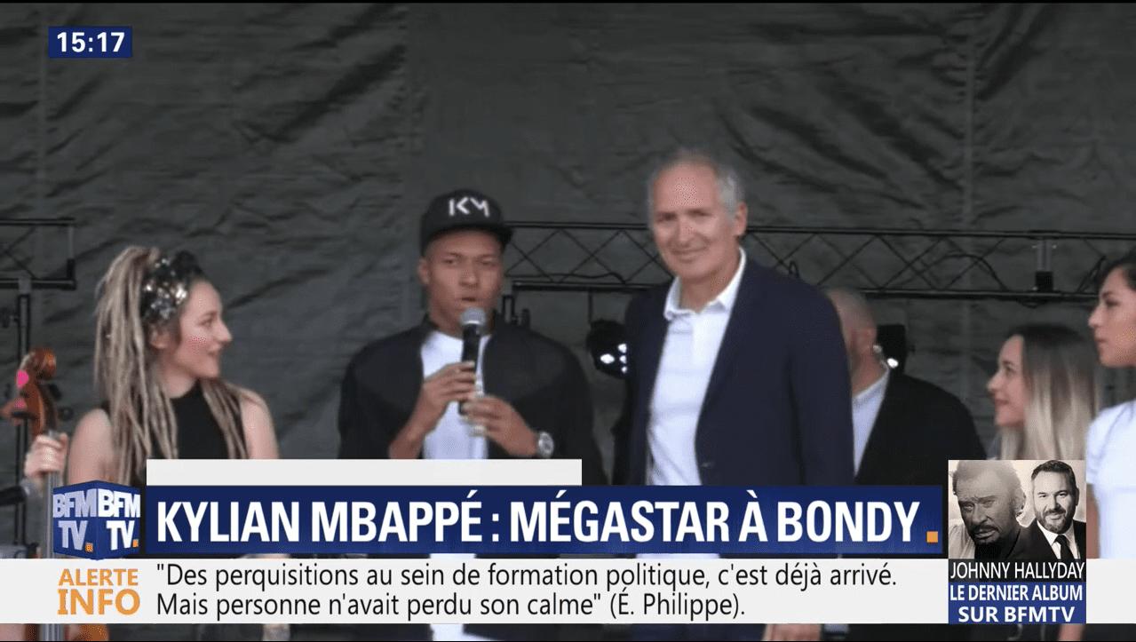 Kylian Mbappé a été accueilli en trombe à Bondy