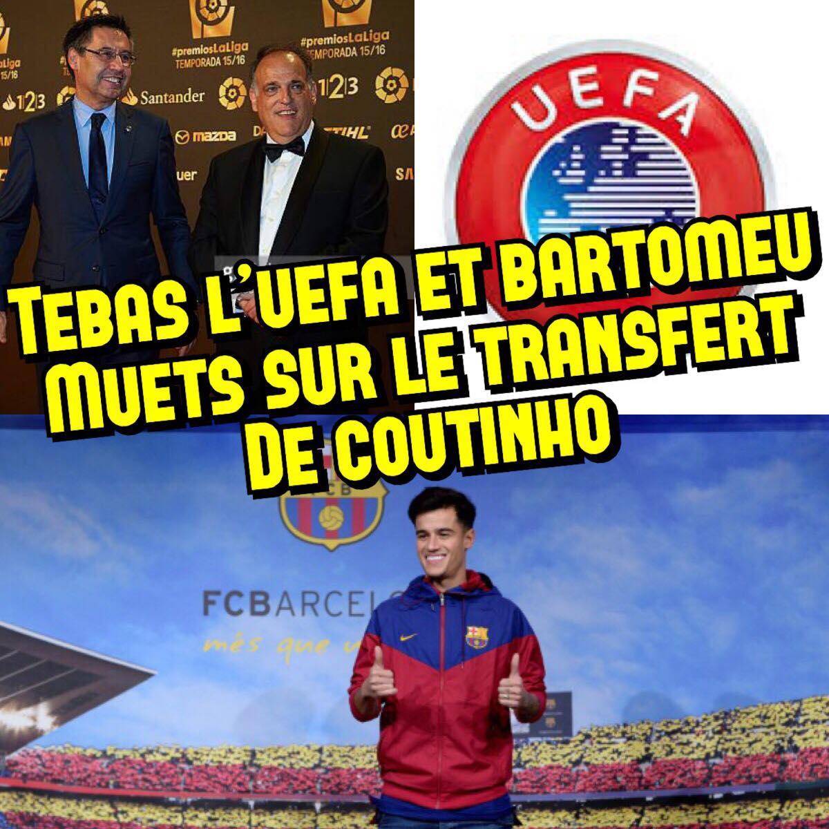 Javier Tebas PSG Bartomeu UEFA