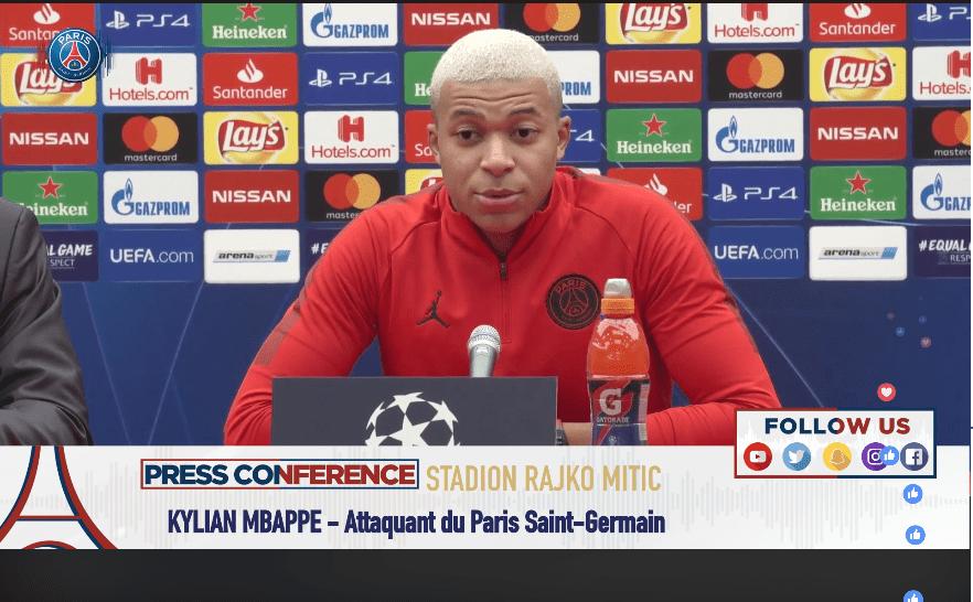 Kylian Mbappé était présent en conférence de presse avant le match contre Belgrade