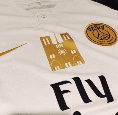 Le PSG lance une vente de maillots Notre-Dame