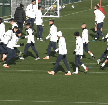Les joueurs du PSG se sont entraînés avant Galatasaray