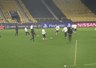 les joueurs du PSG se sont entraînés avant Dortmund